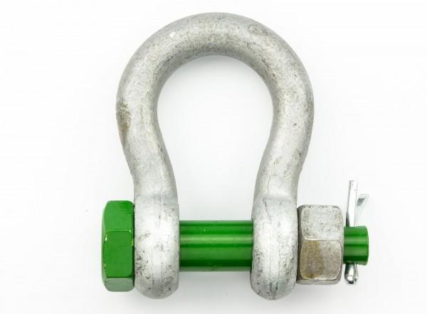 Green Pin Schäkel Safety geschweift WLL 3,25 t