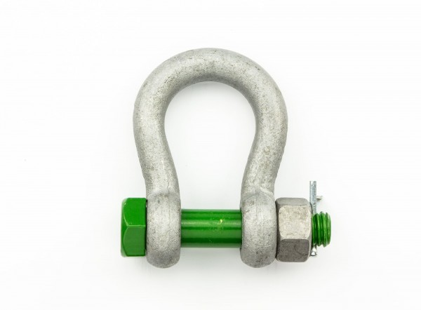 Green Pin Schäkel Safety geschweift WLL 1,5 t