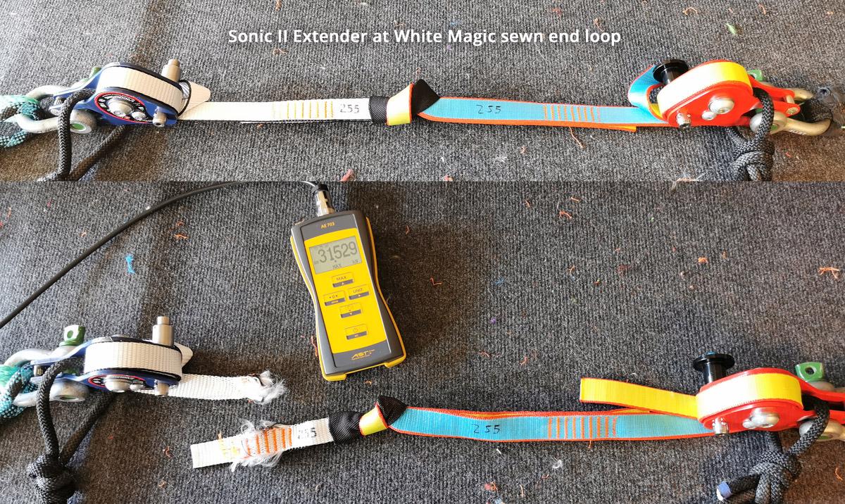 Aki-Slacklines-girth-hitch-06-extender-sonic-II-white-magic