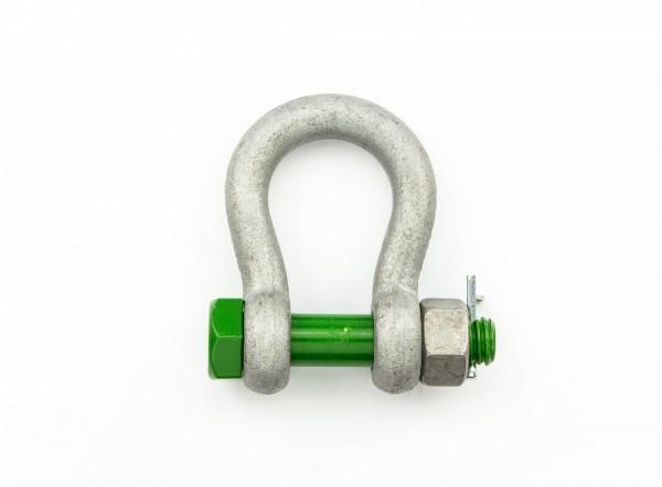 Green Pin Schäkel Safety geschweift WLL 1 t