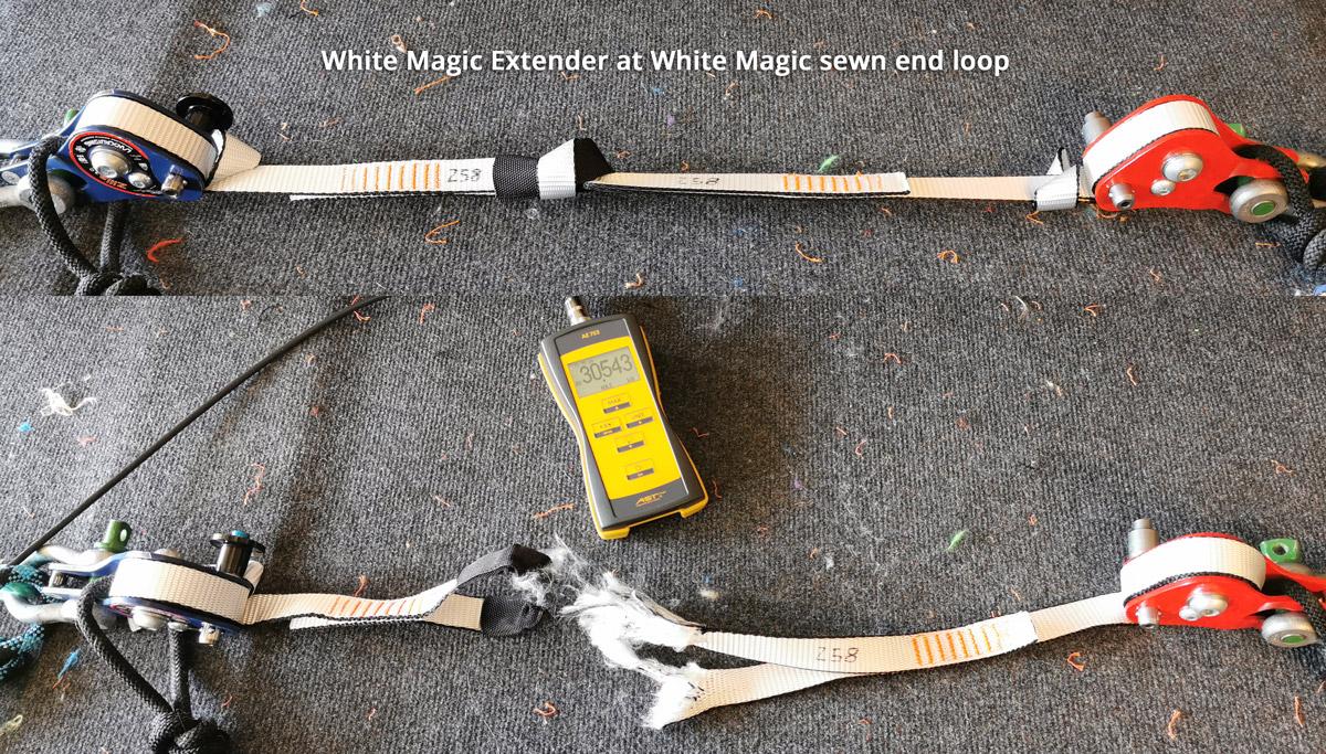 Aki-Slacklines-girth-hitch-09-extender-white-magic-white-magic