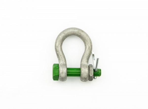 Green Pin Schäkel Safety geschweift WLL 0,5 t